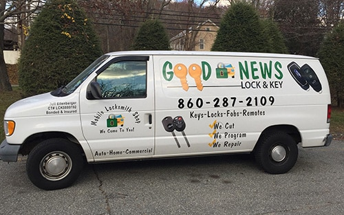 image of Good News Lock & Key locksmith van